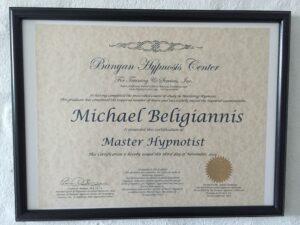 Hypnoseterapeut diplom master hypnotist