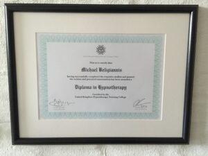UKHCT hypnose diplom Michael Beligiannis
