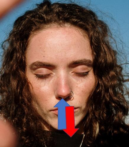 Simpel vejrtrækning mod angst. Hvis du kan tælle til 6 og trækkevejret gennem næsen er du godt kørende på din vej mod at skabe indre kropslig og mental ro.